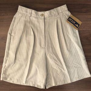 NWT Vintage Plaid High Waist Shorts